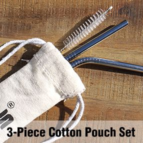 3 Piece Cotton Pouch Set