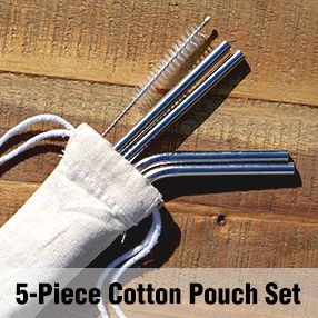 5 Piece Cotton Pouch Set