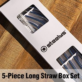 5 Piece Long Straw Box Set