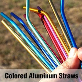 Colored Aluminum Straws