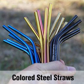 Colored Steel Straws