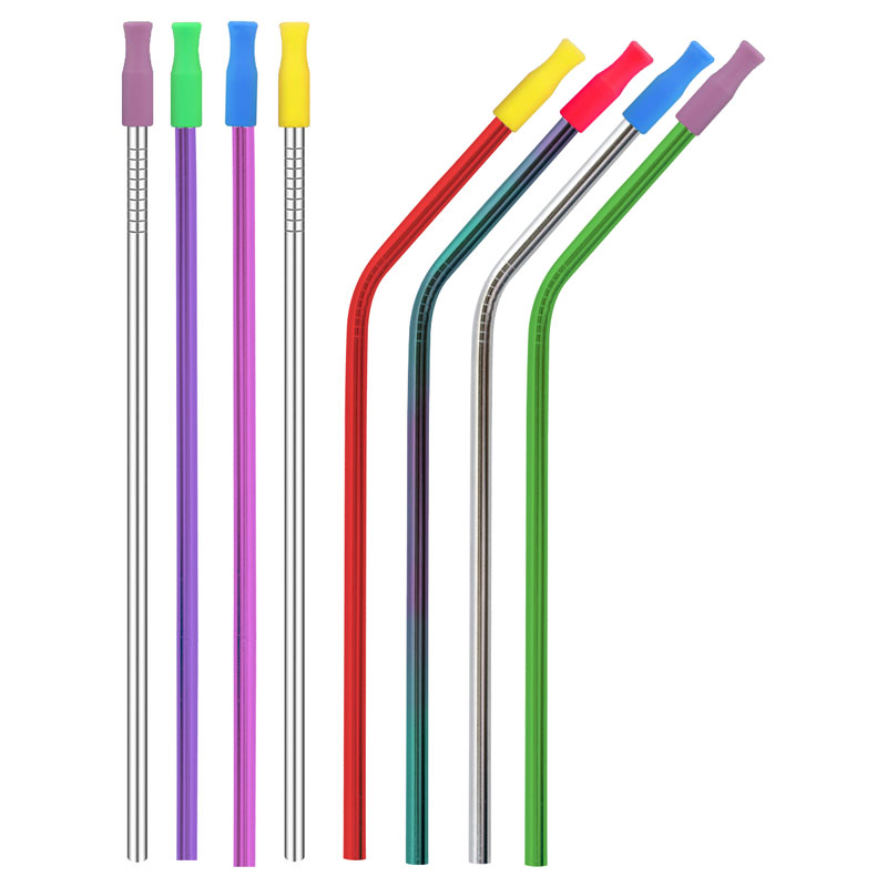 Reusable Silicone Tips for Stainless Steel Straws